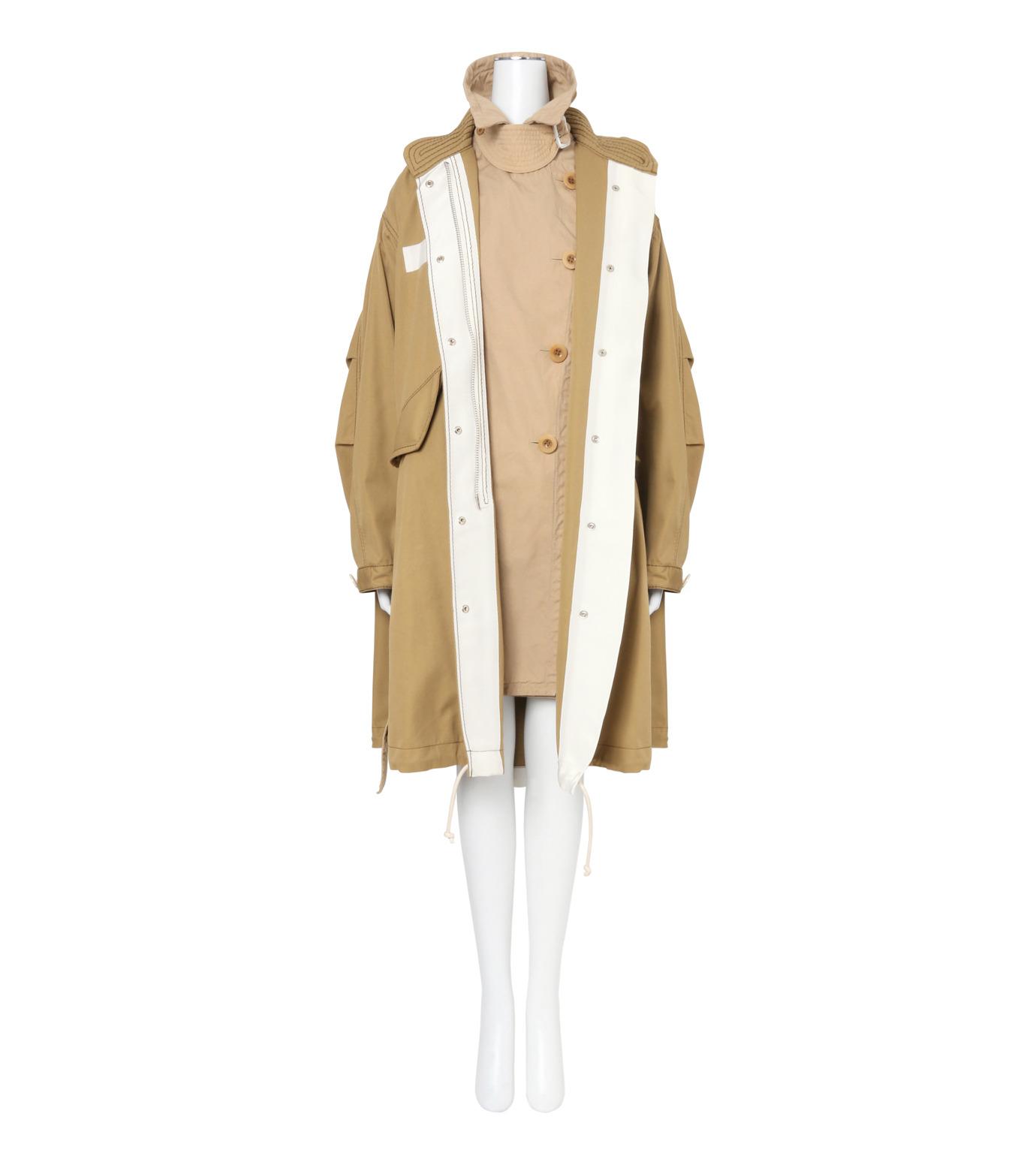 Sacai(サカイ)のCotton Twill Coat-BEIGE(コート/coat)-17-02931-52 拡大詳細画像3