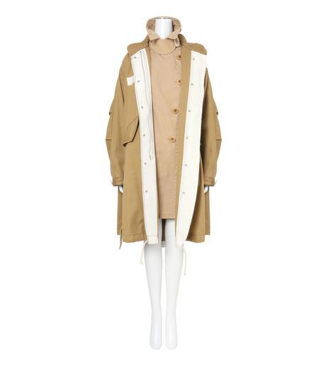 Sacai(サカイ)のCotton Twill Coat-BEIGE(コート/coat)-17-02931-52 詳細画像3