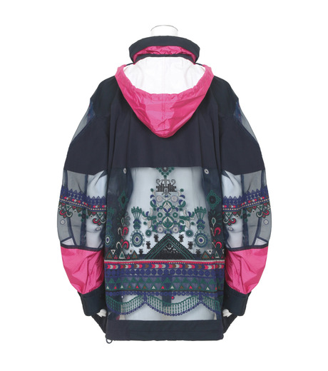Sacai(サカイ)のTribal Lace Blouson-NAVY(ブルゾン/blouson)-17-02936-93 詳細画像2