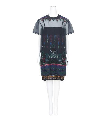 Sacai(サカイ)のTribal Lace Tunic Dress-NAVY(ワンピース/one piece)-17-02942-93 詳細画像1