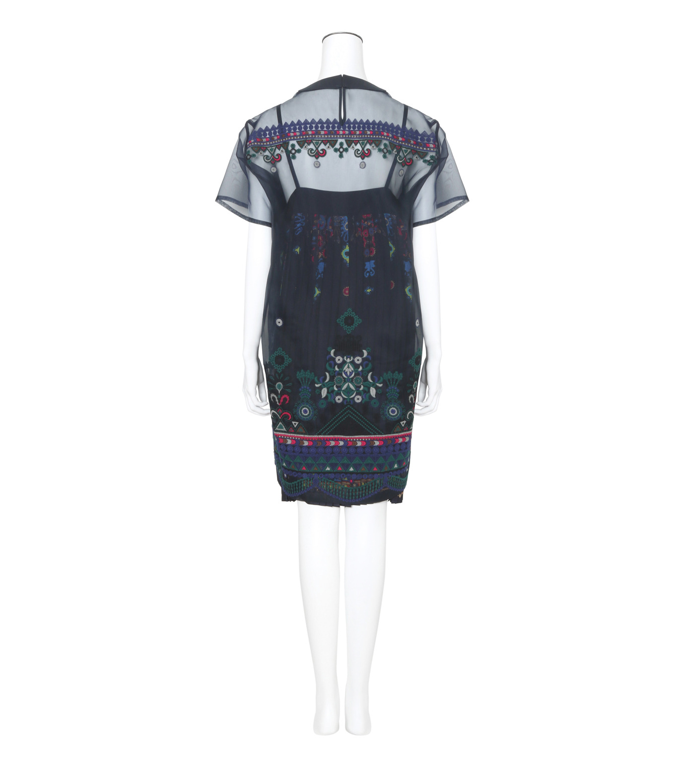 Sacai(サカイ)のTribal Lace Tunic Dress-NAVY(ワンピース/one piece)-17-02942-93 拡大詳細画像2