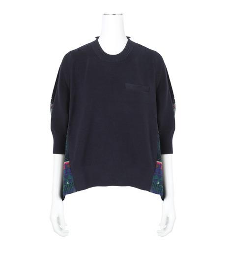 Sacai(サカイ)のTribal Lace Knit Pullover-NAVY(ニット/knit)-17-02945-93 詳細画像1