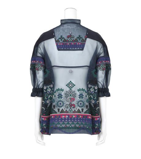 Sacai(サカイ)のTribal Lace Knit Pullover-NAVY(ニット/knit)-17-02945-93 詳細画像2