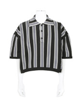 RAF SIMONS(ラフシモンズ) Stripe Cropped Polo