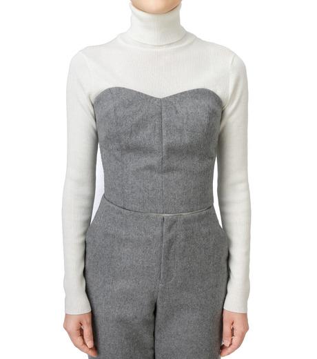 LE CIEL BLEU(ルシェルブルー)のウールベアトップス-GRAY(カットソー/cut and sewn)-17A63016 詳細画像1
