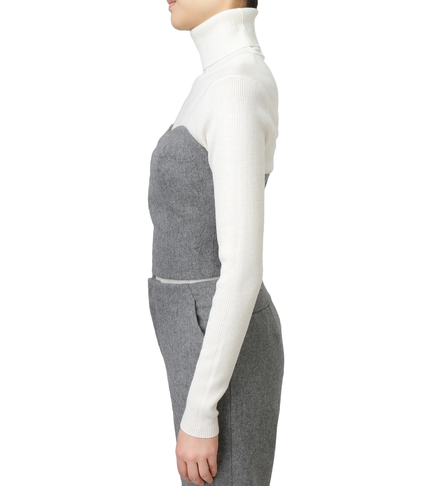 LE CIEL BLEU(ルシェルブルー)のウールベアトップス-GRAY(カットソー/cut and sewn)-17A63016 拡大詳細画像2