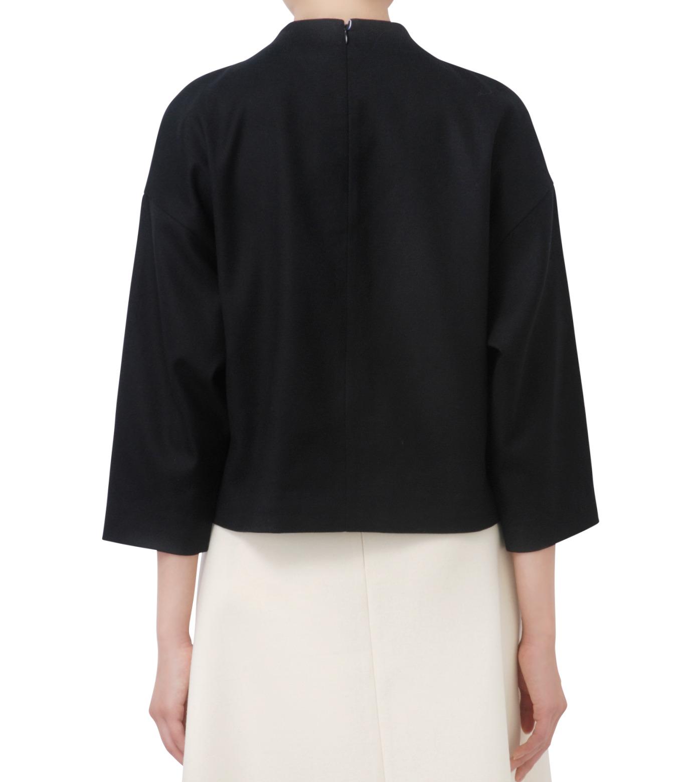 LE CIEL BLEU(ルシェルブルー)のフェイクファーポンポントップス-BLACK(シャツ/shirt)-17A63029 拡大詳細画像3