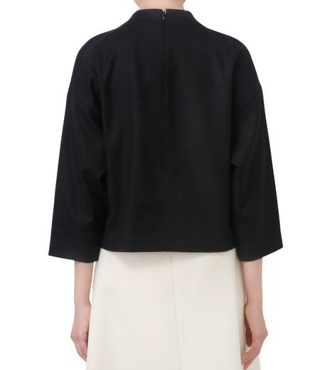LE CIEL BLEU(ルシェルブルー)のフェイクファーポンポントップス-BLACK(シャツ/shirt)-17A63029 詳細画像3