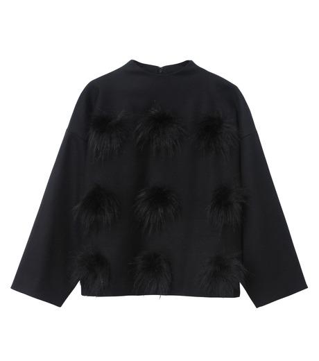 LE CIEL BLEU(ルシェルブルー)のフェイクファーポンポントップス-BLACK(シャツ/shirt)-17A63029 詳細画像5