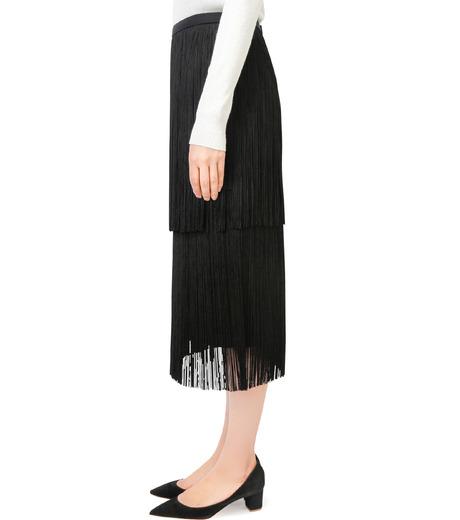 LE CIEL BLEU(ルシェルブルー)のフリンジミディタイトスカート-BLACK(スカート/skirt)-17A67042 詳細画像2