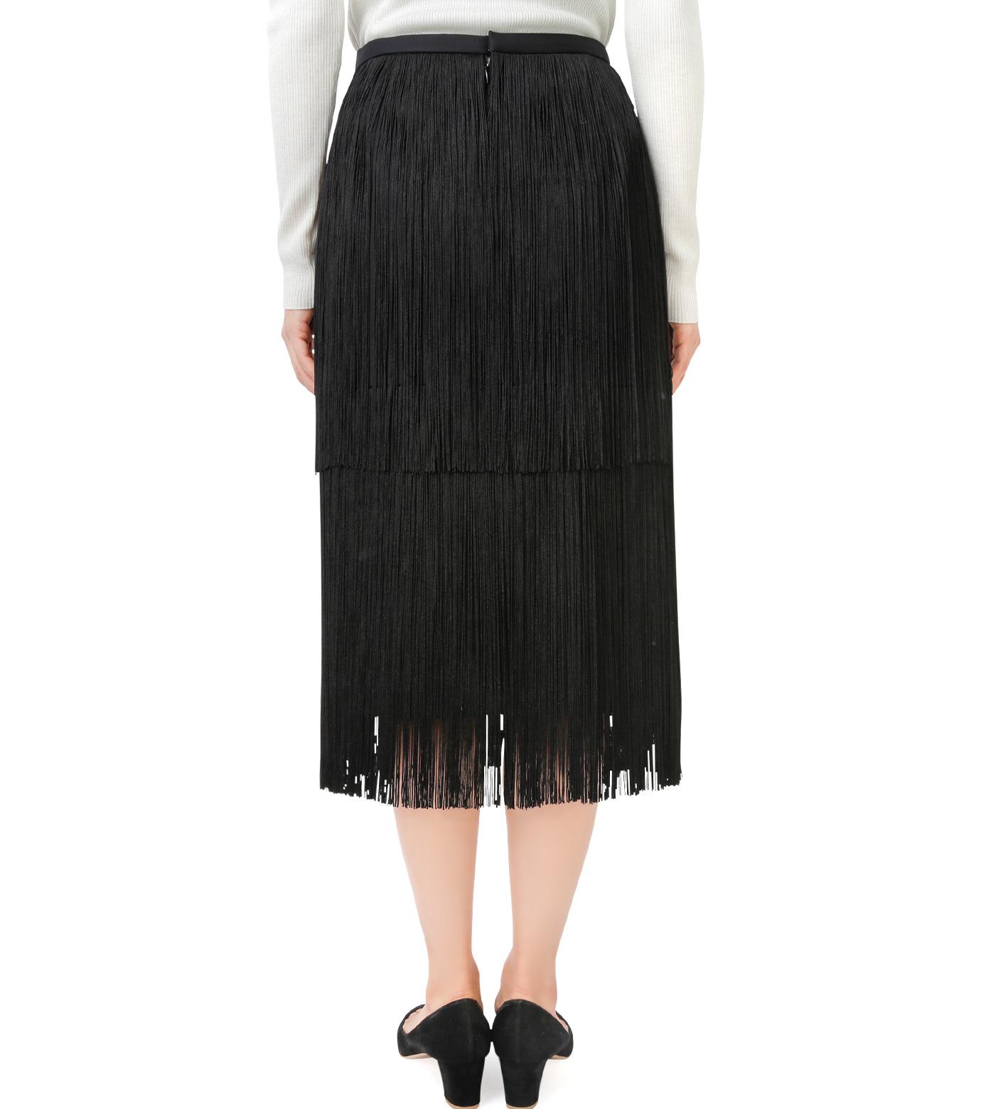 LE CIEL BLEU(ルシェルブルー)のフリンジミディタイトスカート-BLACK(スカート/skirt)-17A67042 拡大詳細画像3