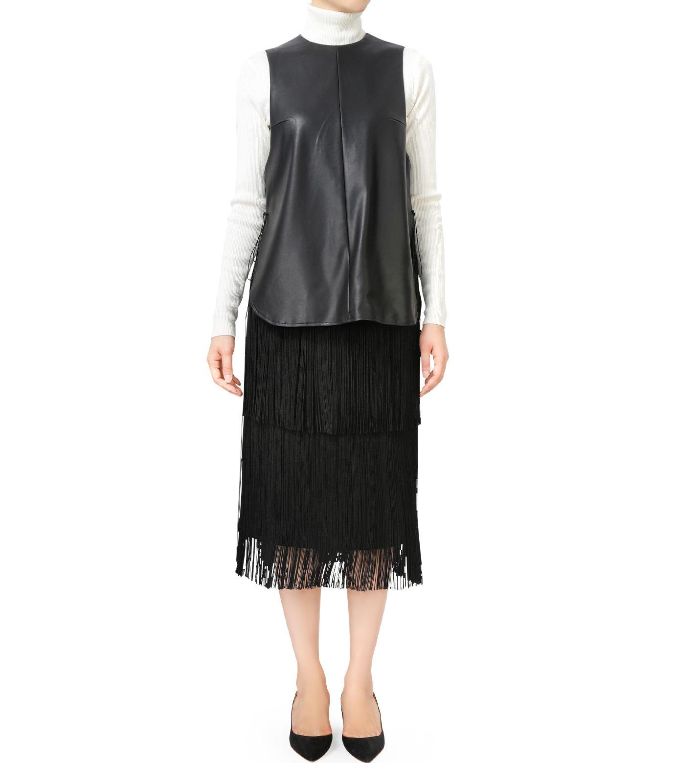 LE CIEL BLEU(ルシェルブルー)のフリンジミディタイトスカート-BLACK(スカート/skirt)-17A67042 拡大詳細画像4