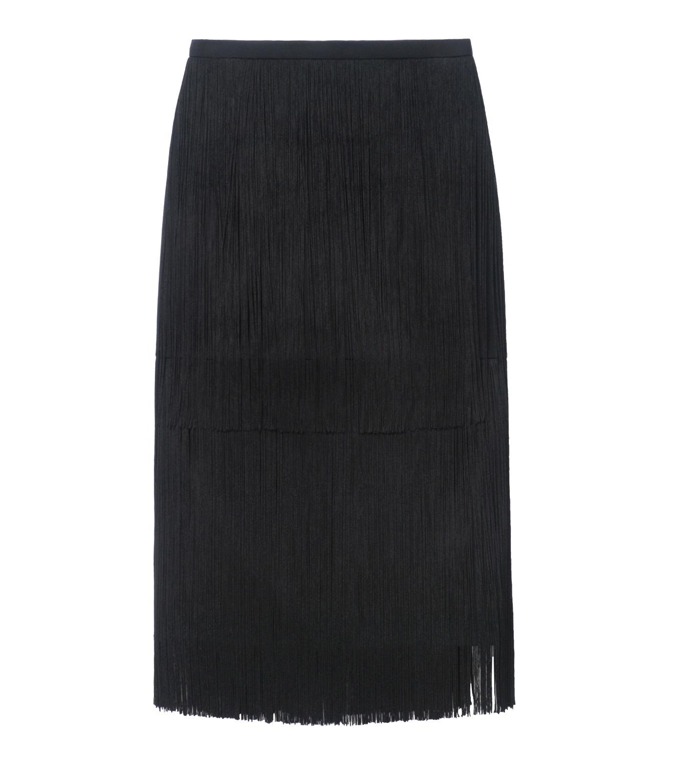 LE CIEL BLEU(ルシェルブルー)のフリンジミディタイトスカート-BLACK(スカート/skirt)-17A67042 拡大詳細画像5