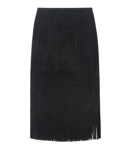 LE CIEL BLEU(ルシェルブルー)のフリンジミディタイトスカート-BLACK(スカート/skirt)-17A67042 詳細画像5