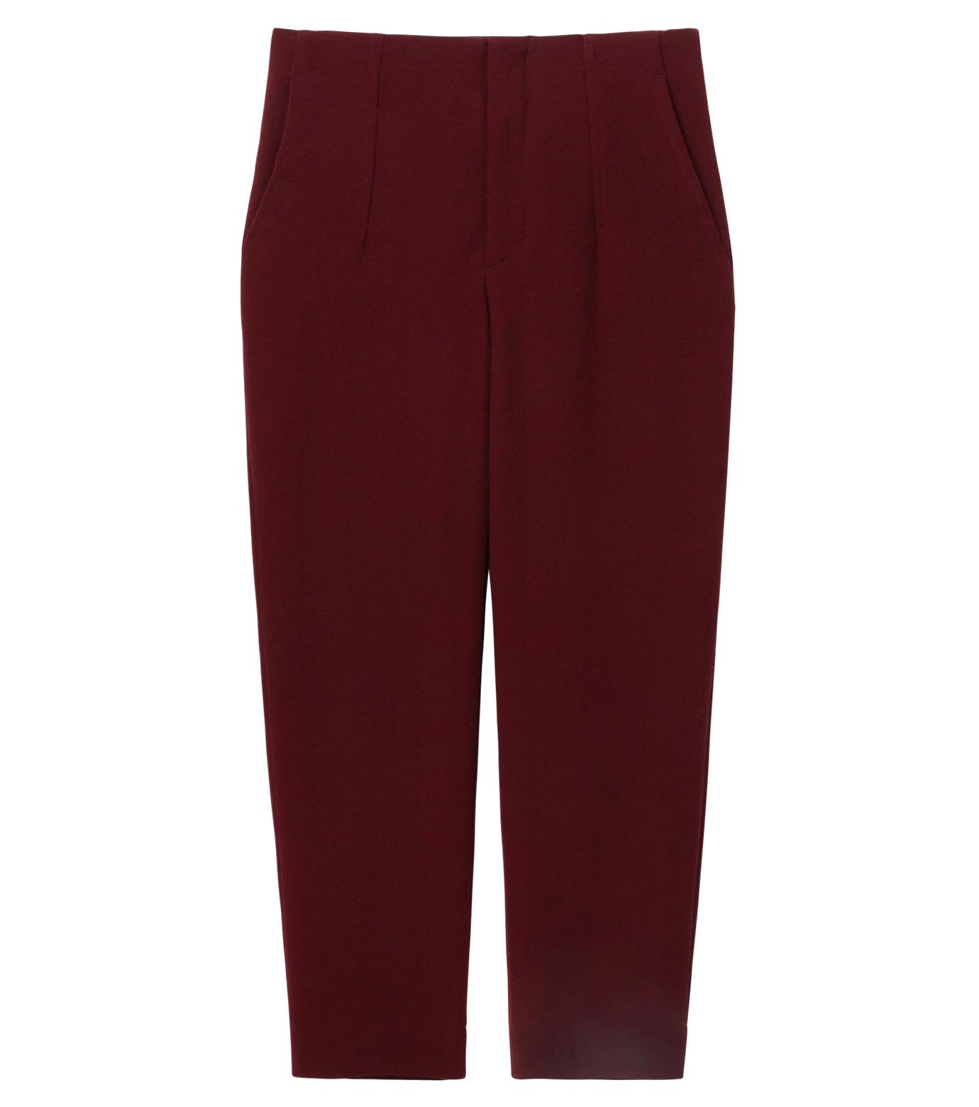 LE CIEL BLEU(ルシェルブルー)のウールジョーゼットパンツ-BORDEAUX(パンツ/pants)-17A68009 拡大詳細画像5