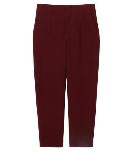 LE CIEL BLEU(ルシェルブルー)のウールジョーゼットパンツ-BORDEAUX(パンツ/pants)-17A68009 詳細画像5