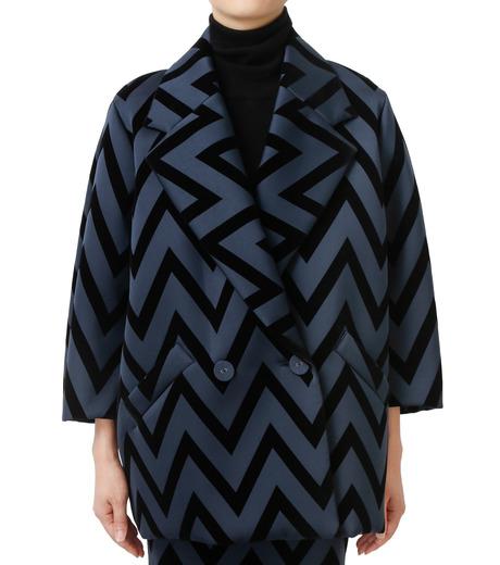 LE CIEL BLEU(ルシェルブルー)のフロックプリントコート-BLACK(コート/coat)-17A69005 詳細画像1