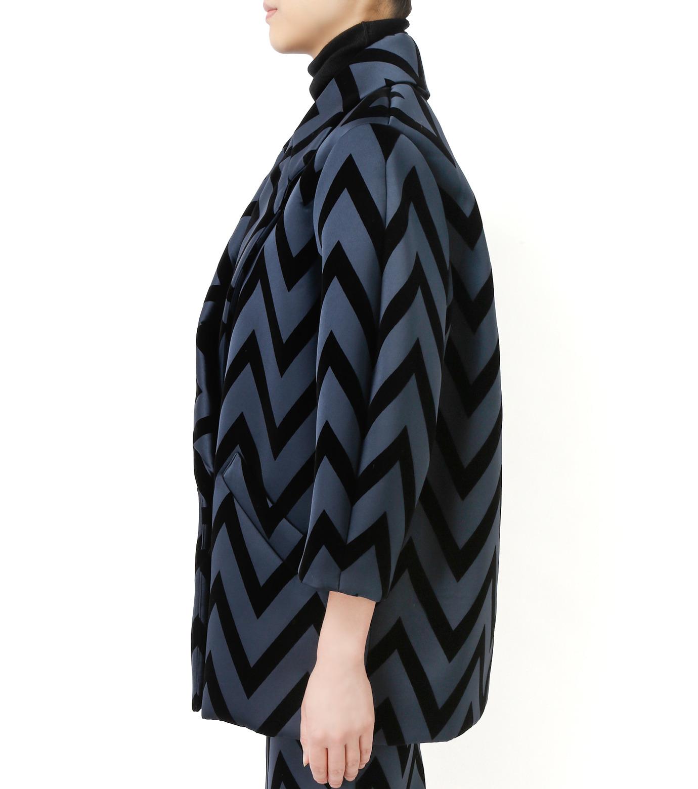 LE CIEL BLEU(ルシェルブルー)のフロックプリントコート-BLACK(コート/coat)-17A69005 拡大詳細画像2