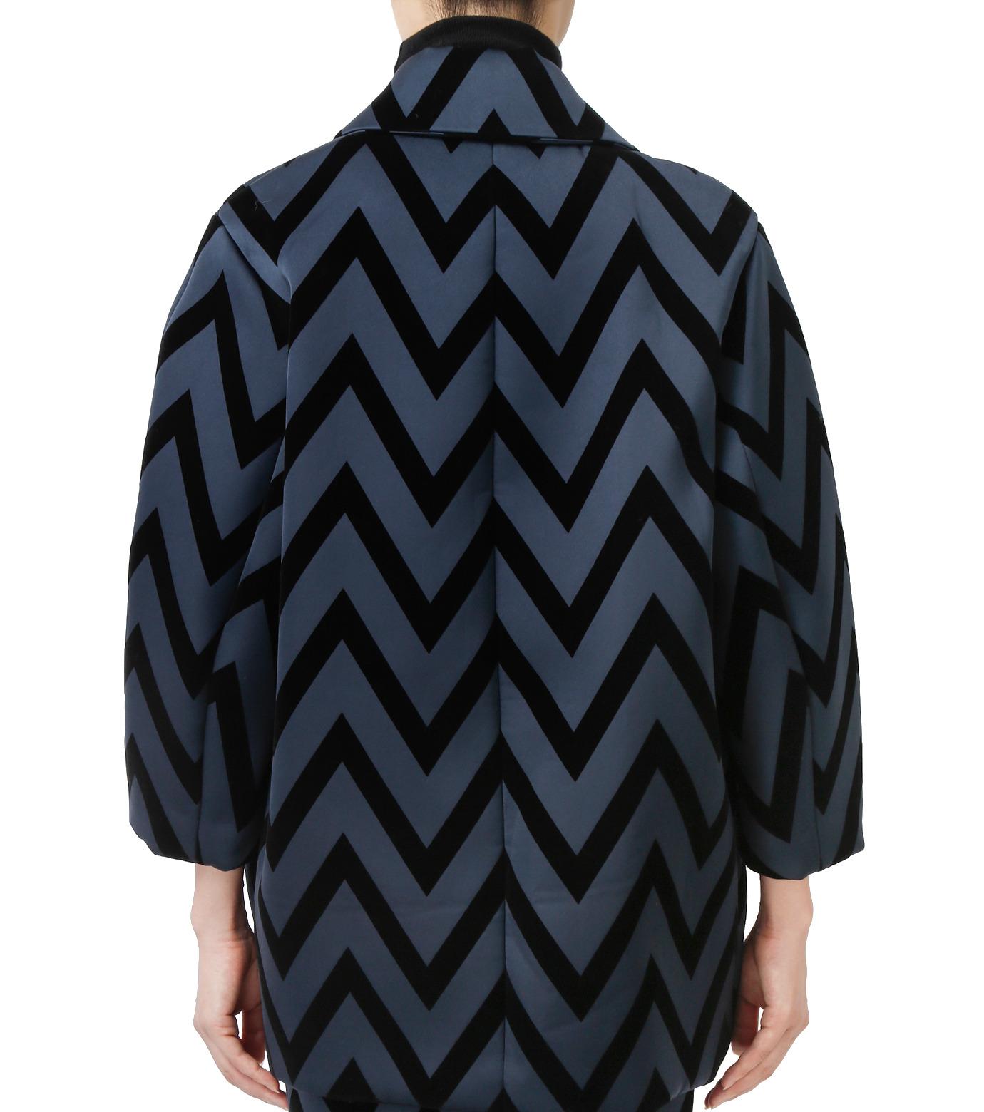 LE CIEL BLEU(ルシェルブルー)のフロックプリントコート-BLACK(コート/coat)-17A69005 拡大詳細画像3