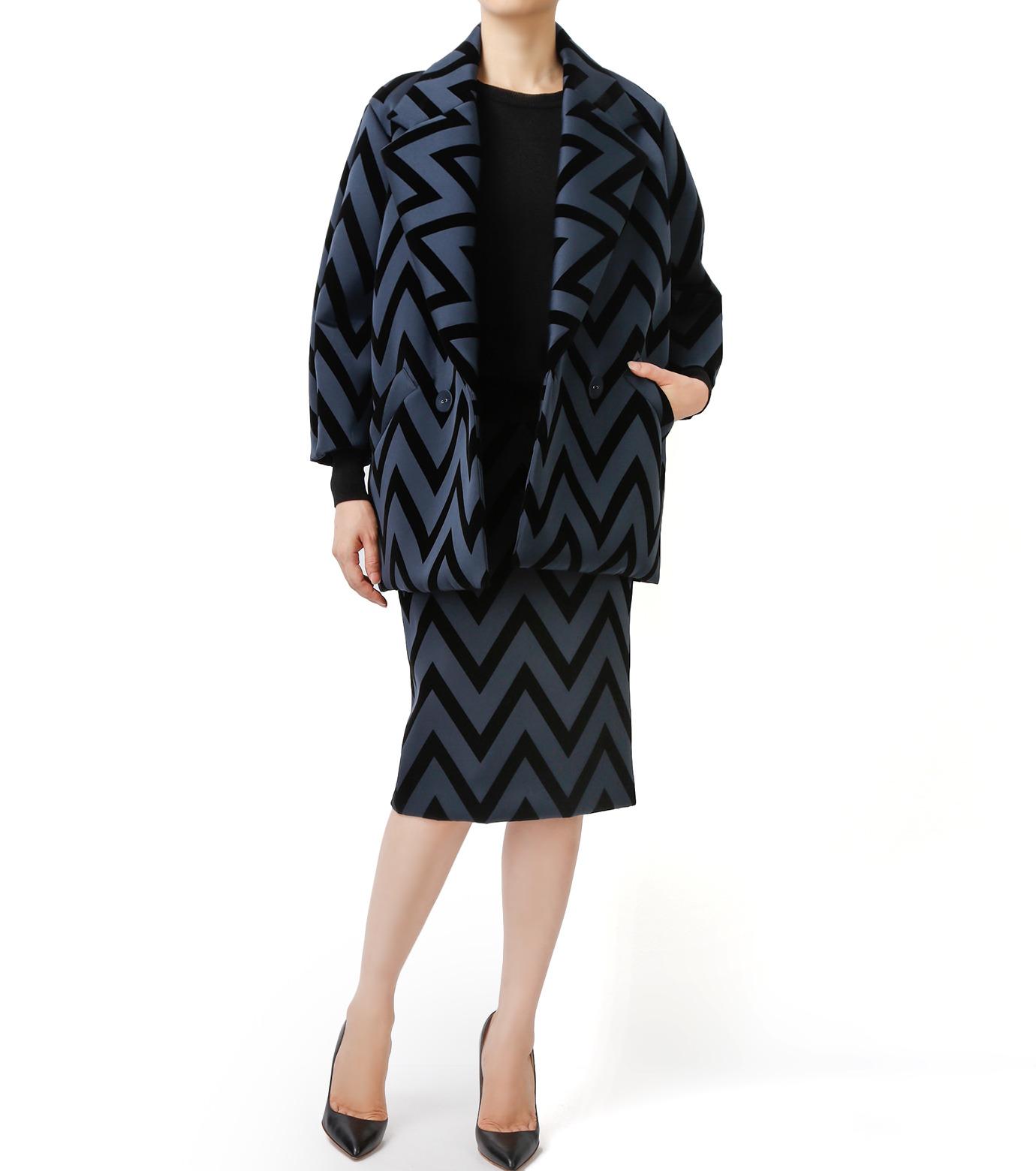 LE CIEL BLEU(ルシェルブルー)のフロックプリントコート-BLACK(コート/coat)-17A69005 拡大詳細画像4