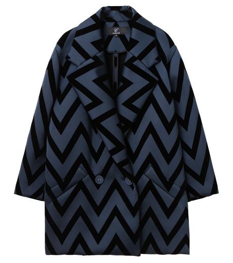 LE CIEL BLEU(ルシェルブルー)のフロックプリントコート-BLACK(コート/coat)-17A69005 詳細画像5