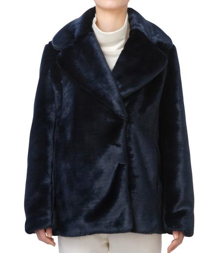LE CIEL BLEU(ルシェルブルー)のフェイクファーPコート-NAVY(コート/coat)-17A69019 詳細画像1