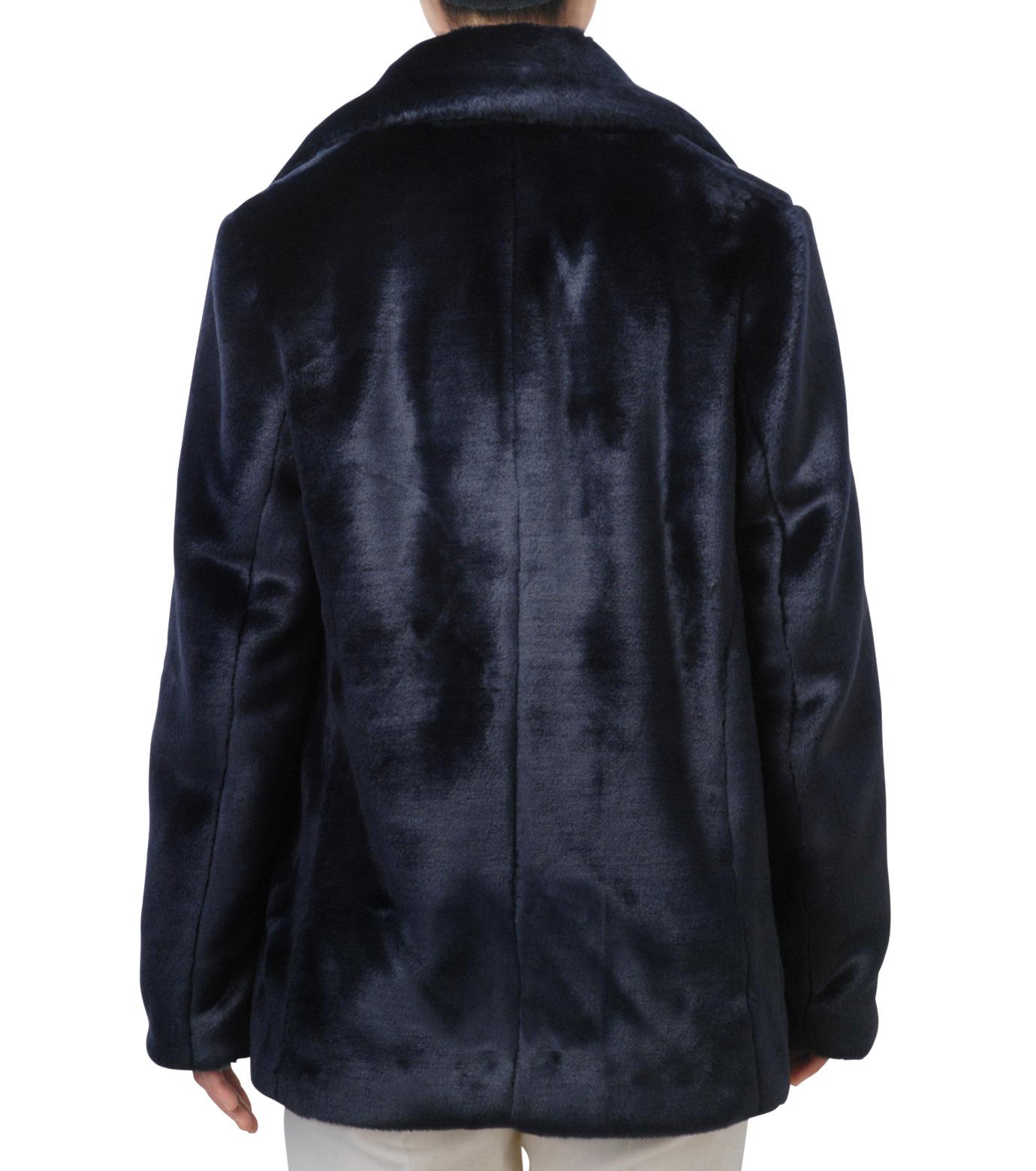 LE CIEL BLEU(ルシェルブルー)のフェイクファーPコート-NAVY(コート/coat)-17A69019 拡大詳細画像3