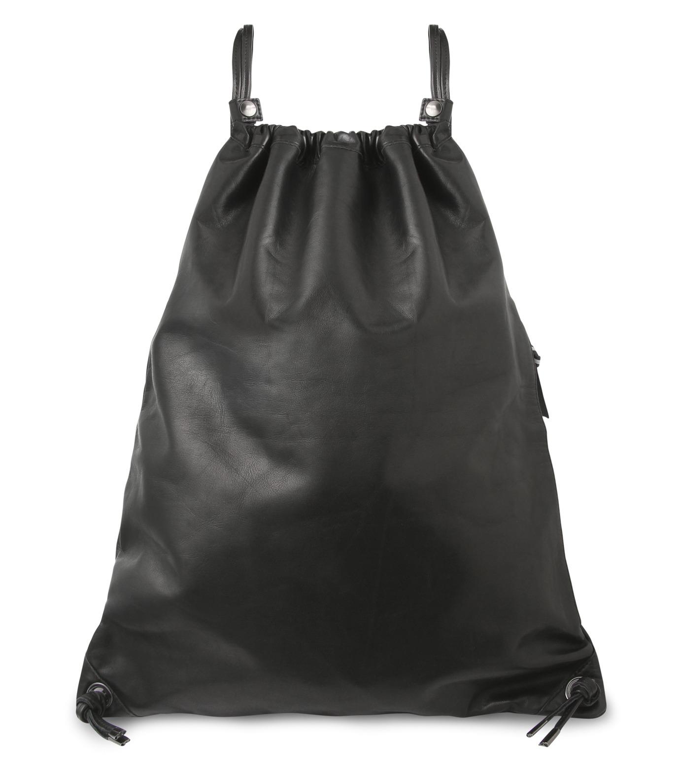 HL HEDDIE LOVU(エイチエル・エディールーヴ)のLEATHER KNAP SAC-BLACK(バッグ/bag)-17A900008-13 拡大詳細画像1