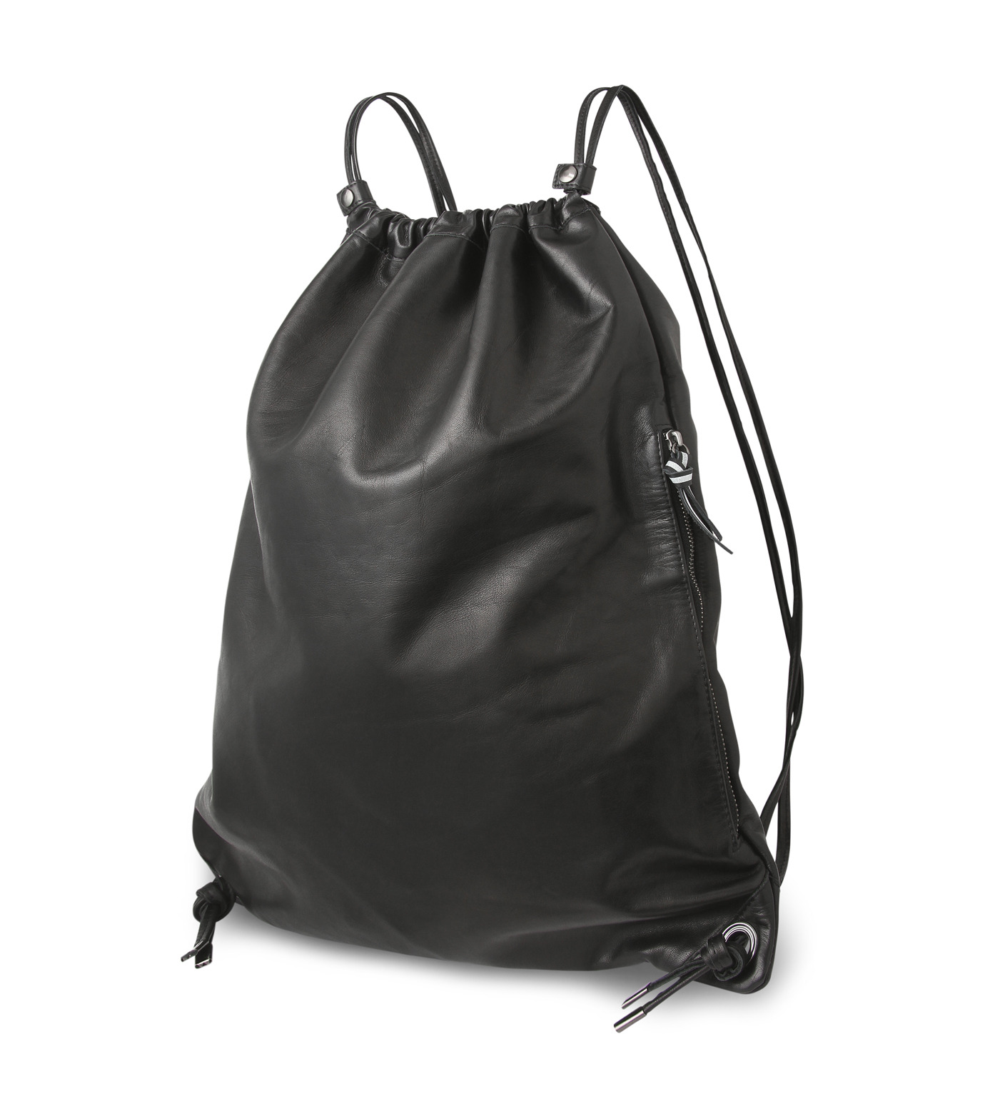 HL HEDDIE LOVU(エイチエル・エディールーヴ)のLEATHER KNAP SAC-BLACK(バッグ/bag)-17A900008-13 拡大詳細画像2