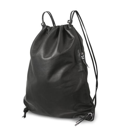 HL HEDDIE LOVU(エイチエル・エディールーヴ)のLEATHER KNAP SAC-BLACK(バッグ/bag)-17A900008-13 詳細画像2