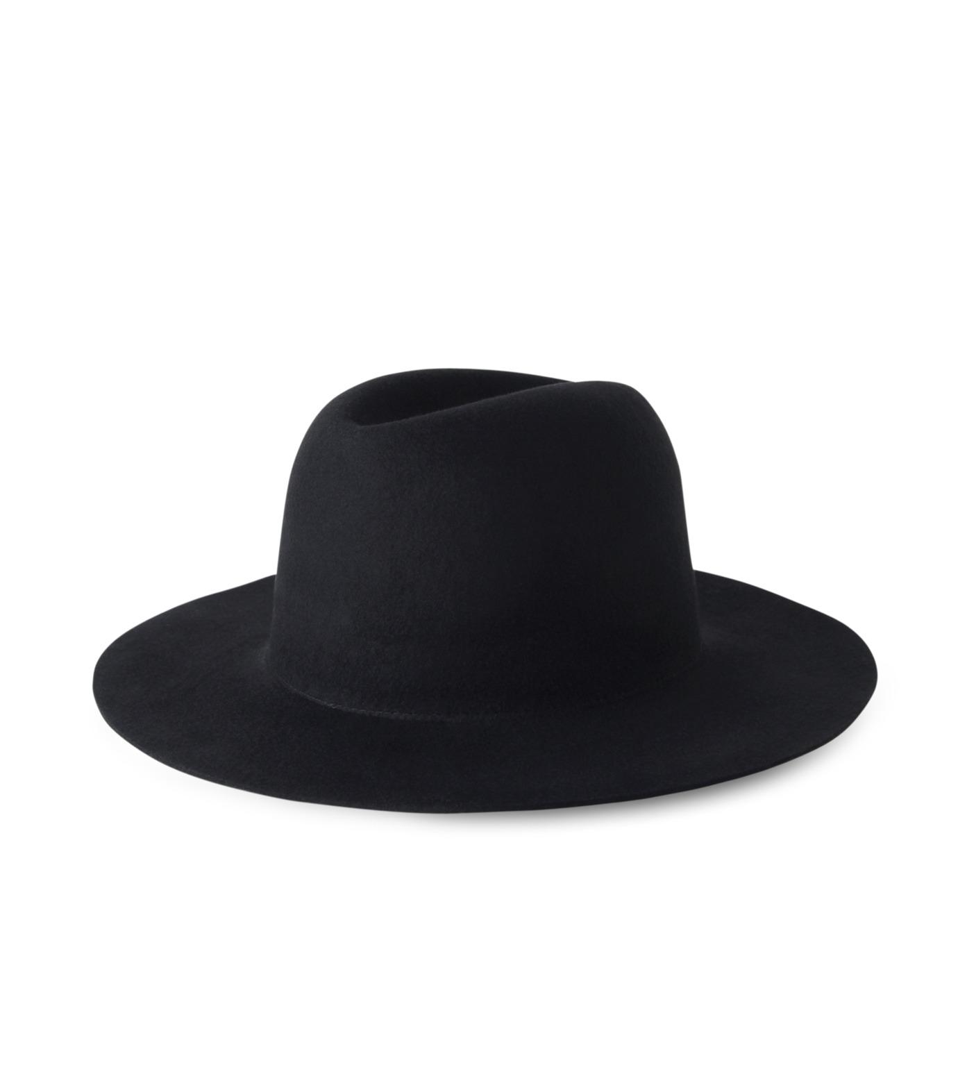 HL HEDDIE LOVU(エイチエル・エディールーヴ)のHL LONG BRIM HAT-BLACK(キャップ/cap)-17A90001-13 拡大詳細画像1