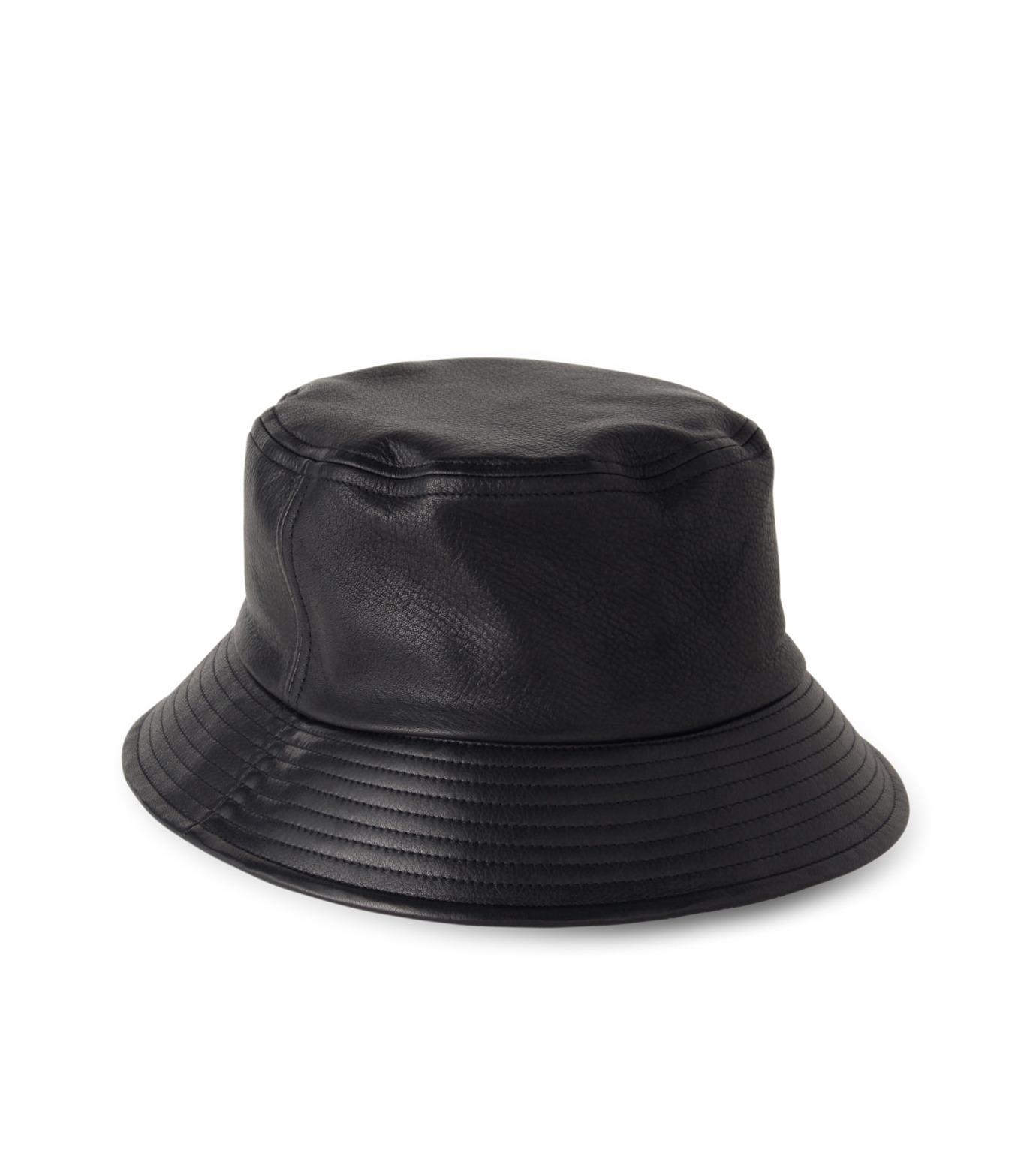 HL HEDDIE LOVU(エイチエル・エディールーヴ)のHL LEATHER BACKE-BLACK(キャップ/cap)-17A90003-13 拡大詳細画像2