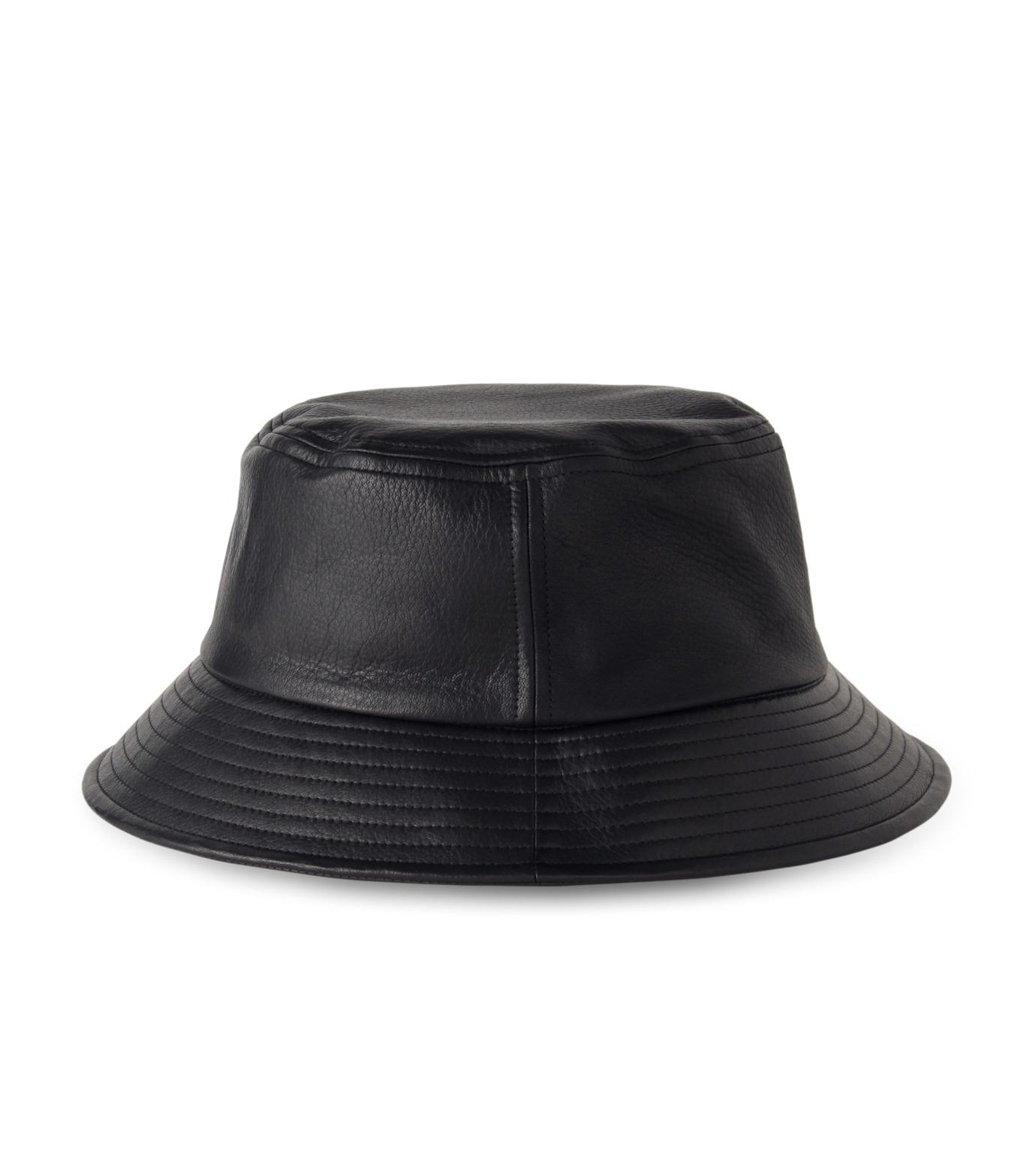 HL HEDDIE LOVU(エイチエル・エディールーヴ)のHL LEATHER BACKE-BLACK(キャップ/cap)-17A90003-13 拡大詳細画像4
