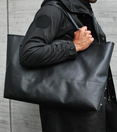 HL HEDDIE LOVU(エイチエル・エディールーヴ)のBIG TOTE BAG-BLACK(バッグ/bag)-17A90004-13 詳細画像2