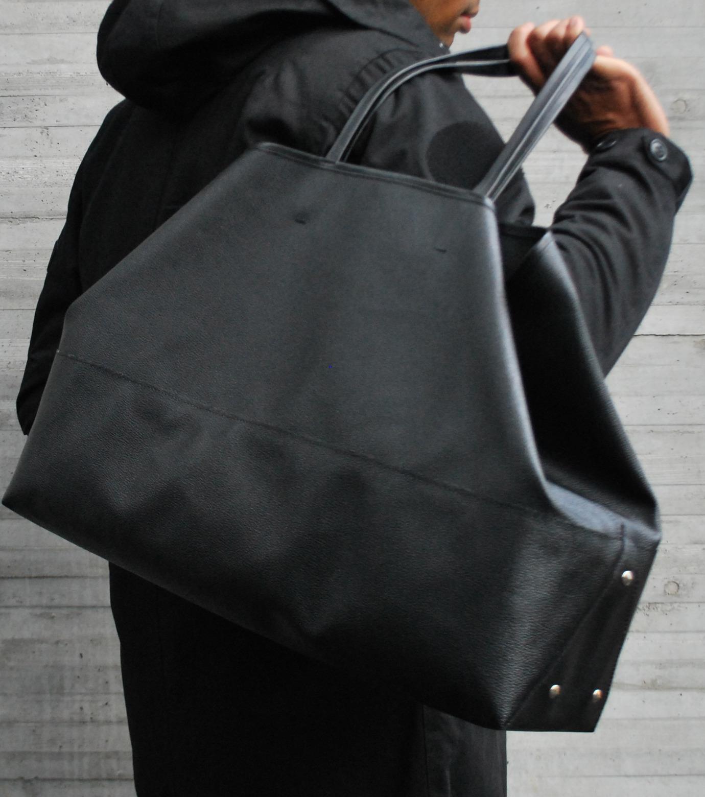 HL HEDDIE LOVU(エイチエル・エディールーヴ)のBIG TOTE BAG-BLACK(バッグ/bag)-17A90004-13 拡大詳細画像4