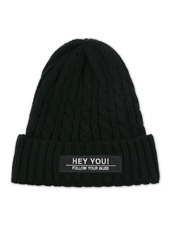 HEY YOU ! CABLE KNIT CAP