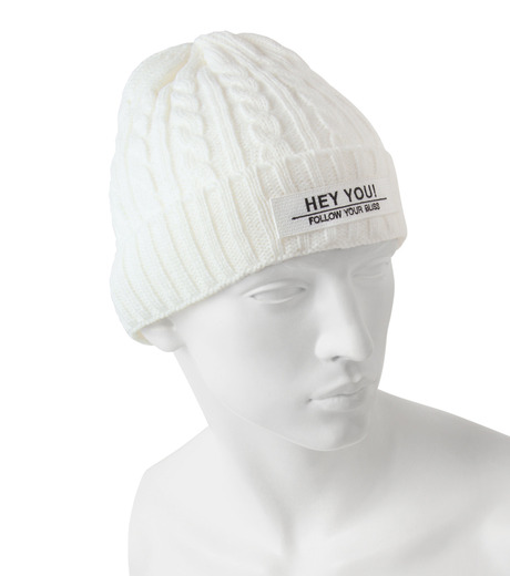 HEY YOU !(ヘイユウ)のCABLE KNIT CAP-WHITE(キャップ/cap)-17A90009-4 詳細画像2