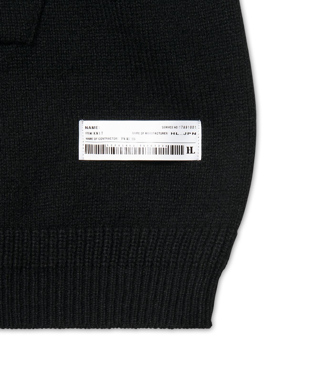 HL HEDDIE LOVU(エイチエル・エディールーヴ)のLONG KNIT PARKA-BLACK(ニット/knit)-17A91001-13 拡大詳細画像3
