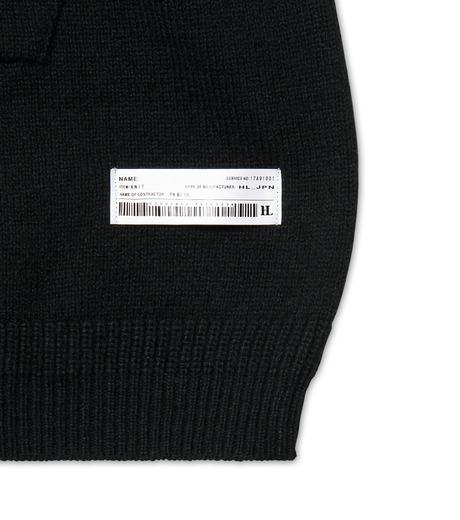 HL HEDDIE LOVU(エイチエル・エディールーヴ)のLONG KNIT PARKA-BLACK(ニット/knit)-17A91001-13 詳細画像3