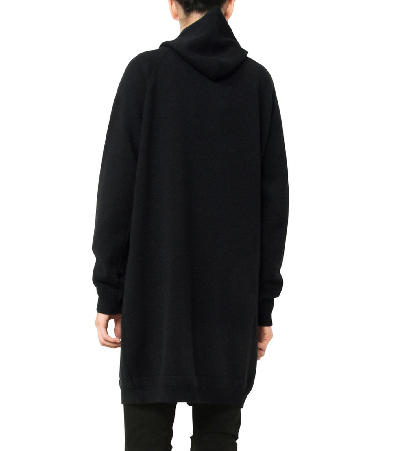 HL HEDDIE LOVU(エイチエル・エディールーヴ)のLONG KNIT PARKA-BLACK(ニット/knit)-17A91001-13 拡大詳細画像6