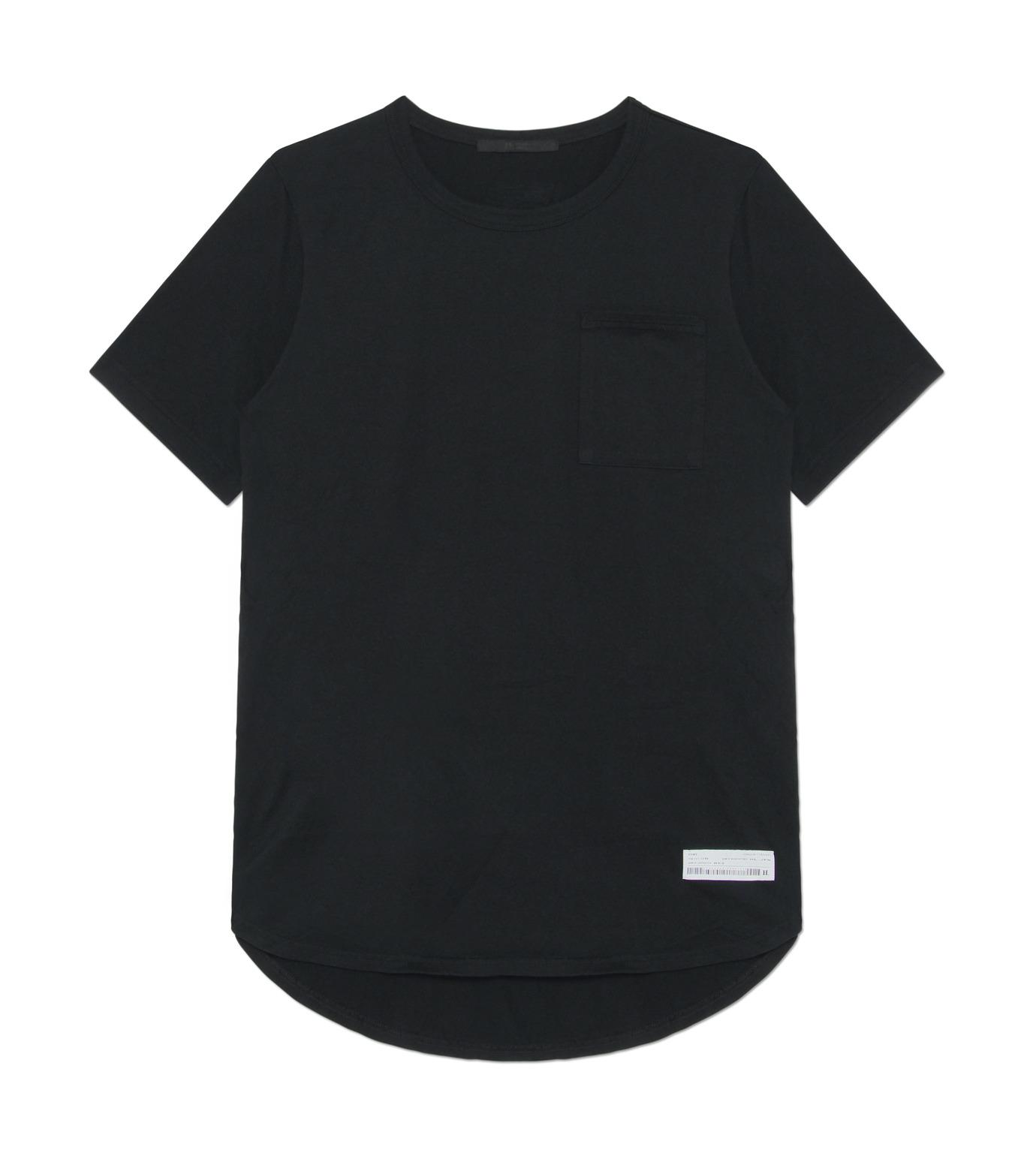 HL HEDDIE LOVU(エイチエル・エディールーヴ)のHL Curved-Hem L.-BLACK(カットソー/cut and sewn)-17A92002-13 拡大詳細画像1
