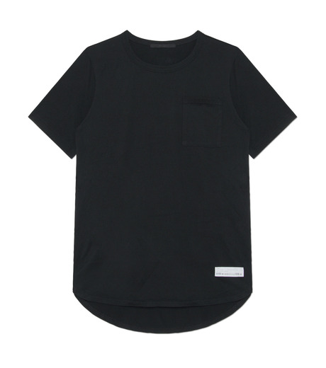 HL HEDDIE LOVU(エイチエル・エディールーヴ)のHL Curved-Hem L.-BLACK(カットソー/cut and sewn)-17A92002-13 詳細画像1