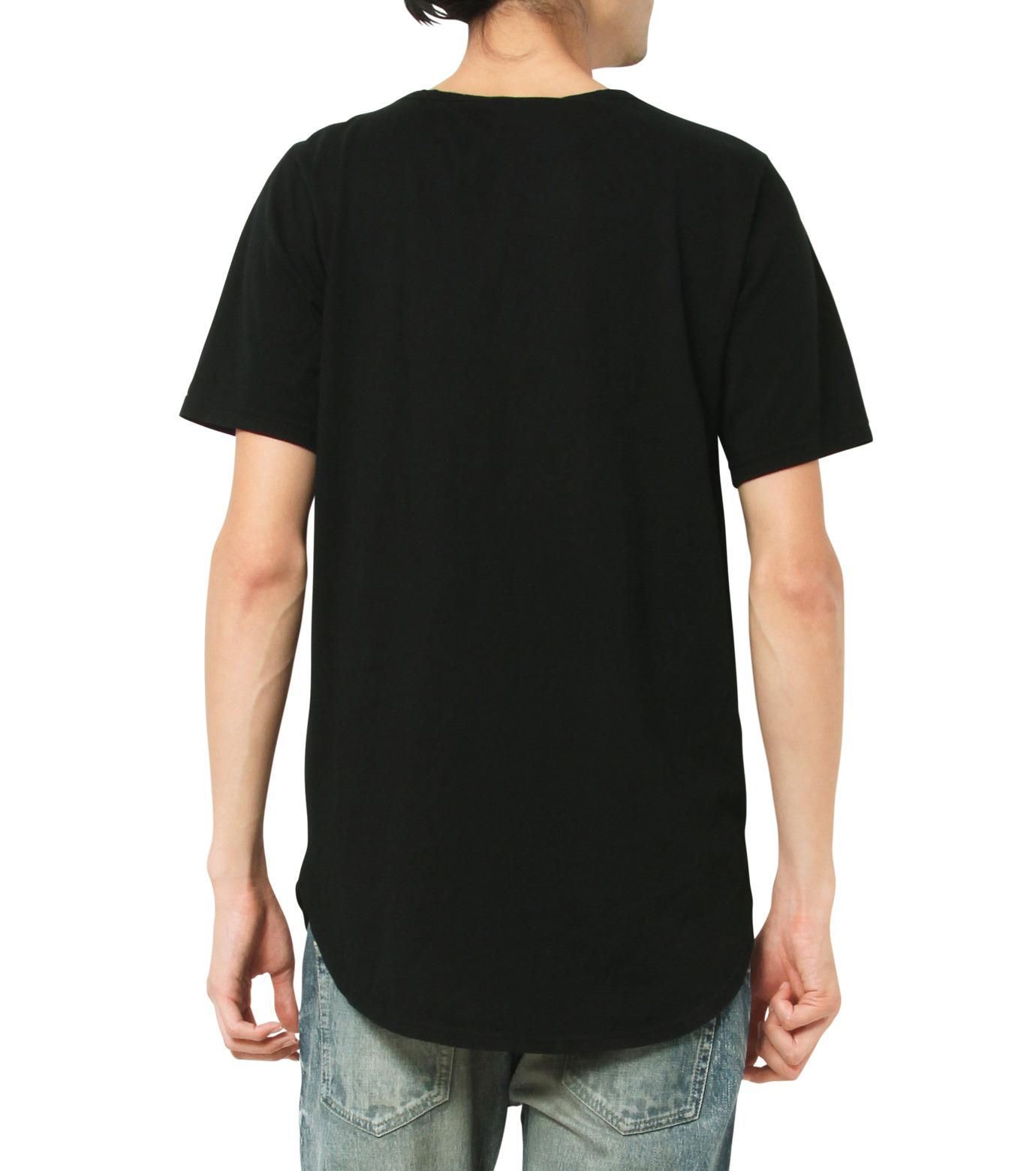 HL HEDDIE LOVU(エイチエル・エディールーヴ)のHL Curved-Hem L.-BLACK(カットソー/cut and sewn)-17A92002-13 拡大詳細画像3
