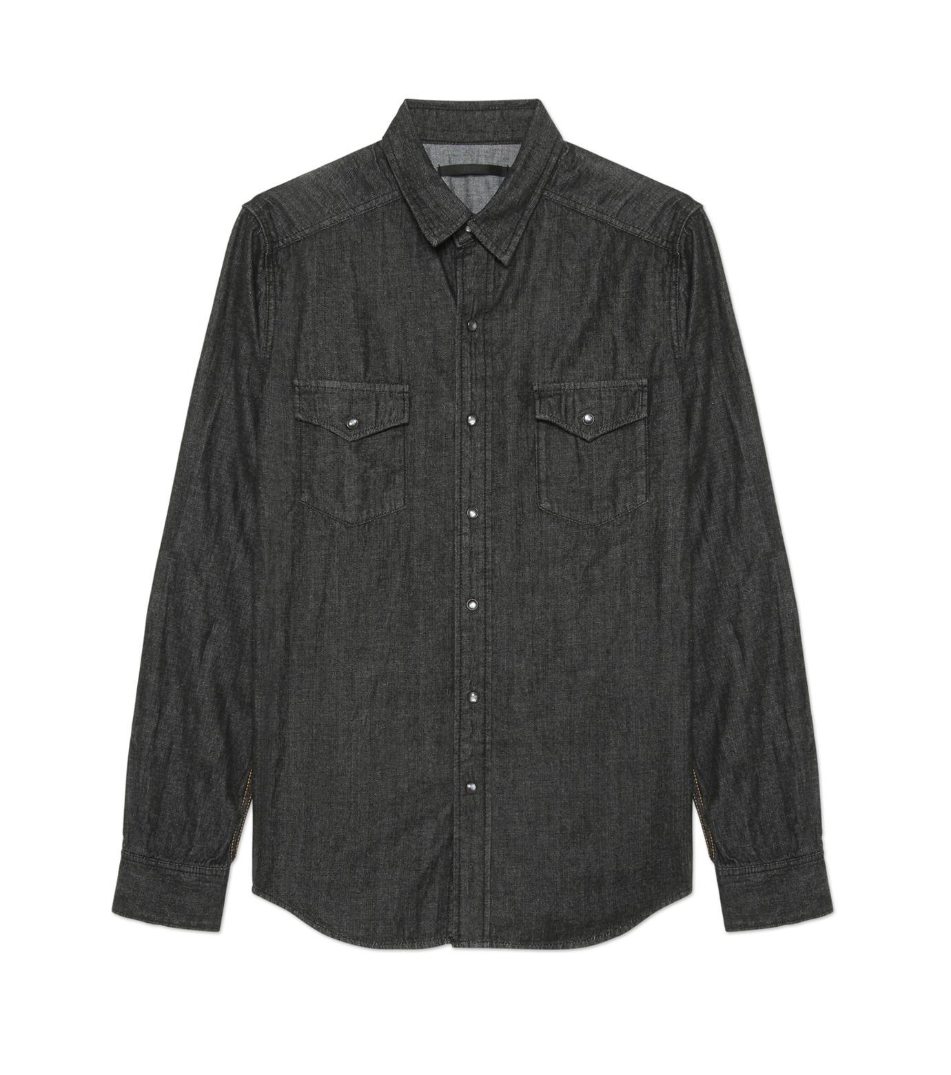 HL HEDDIE LOVU(エイチエル・エディールーヴ)のHL DENIM SHIRT-BLACK(シャツ/shirt)-17A93003-13 拡大詳細画像1