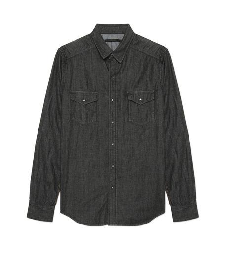 HL HEDDIE LOVU(エイチエル・エディールーヴ)のHL DENIM SHIRT-BLACK(シャツ/shirt)-17A93003-13 詳細画像1