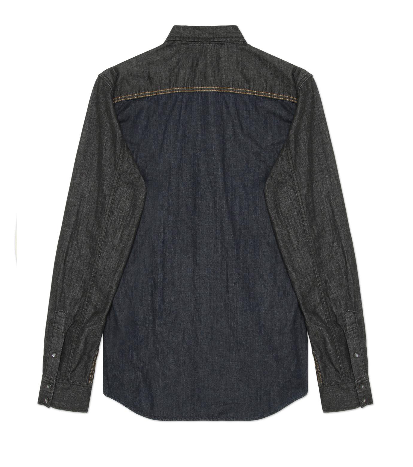 HL HEDDIE LOVU(エイチエル・エディールーヴ)のHL DENIM SHIRT-BLACK(シャツ/shirt)-17A93003-13 拡大詳細画像2