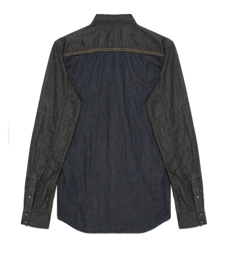 HL HEDDIE LOVU(エイチエル・エディールーヴ)のHL DENIM SHIRT-BLACK(シャツ/shirt)-17A93003-13 詳細画像2