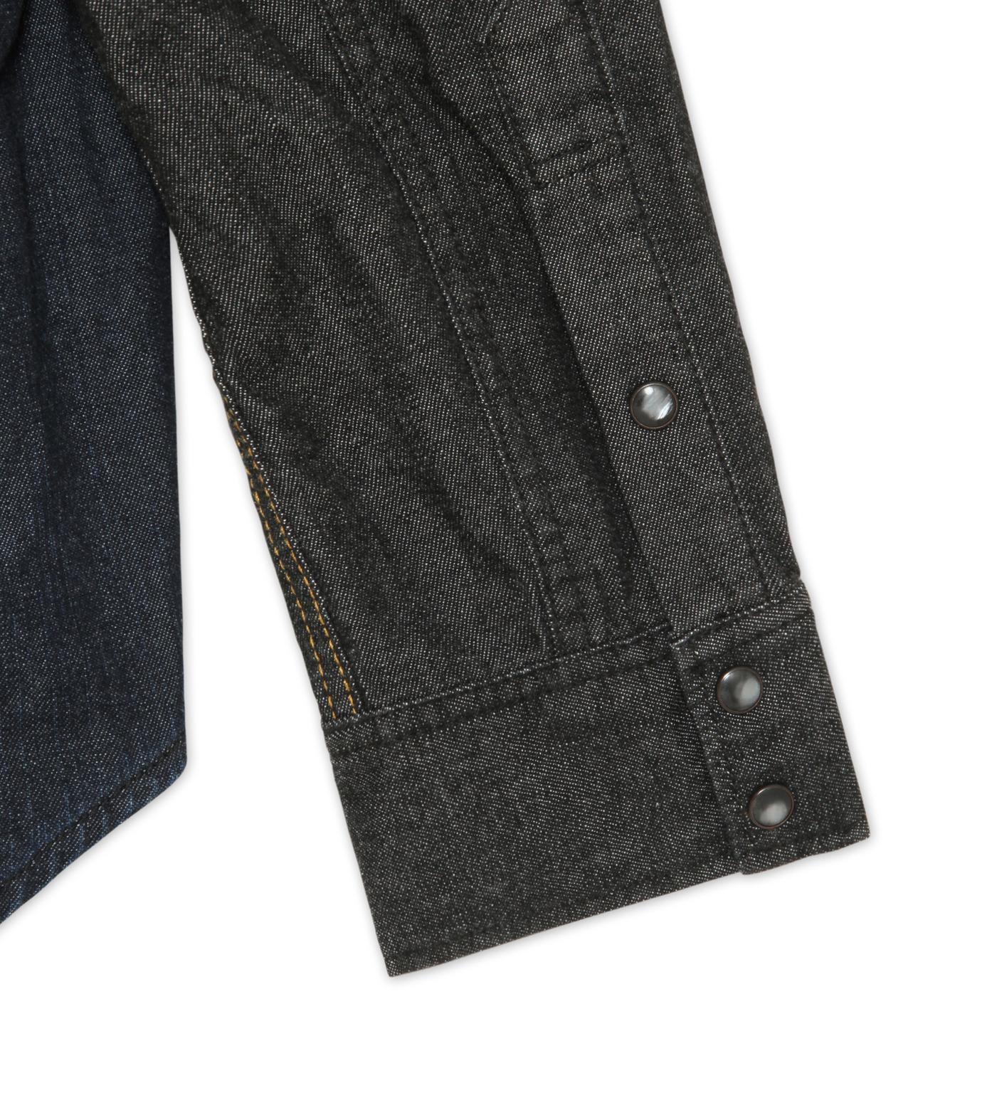 HL HEDDIE LOVU(エイチエル・エディールーヴ)のHL DENIM SHIRT-BLACK(シャツ/shirt)-17A93003-13 拡大詳細画像4