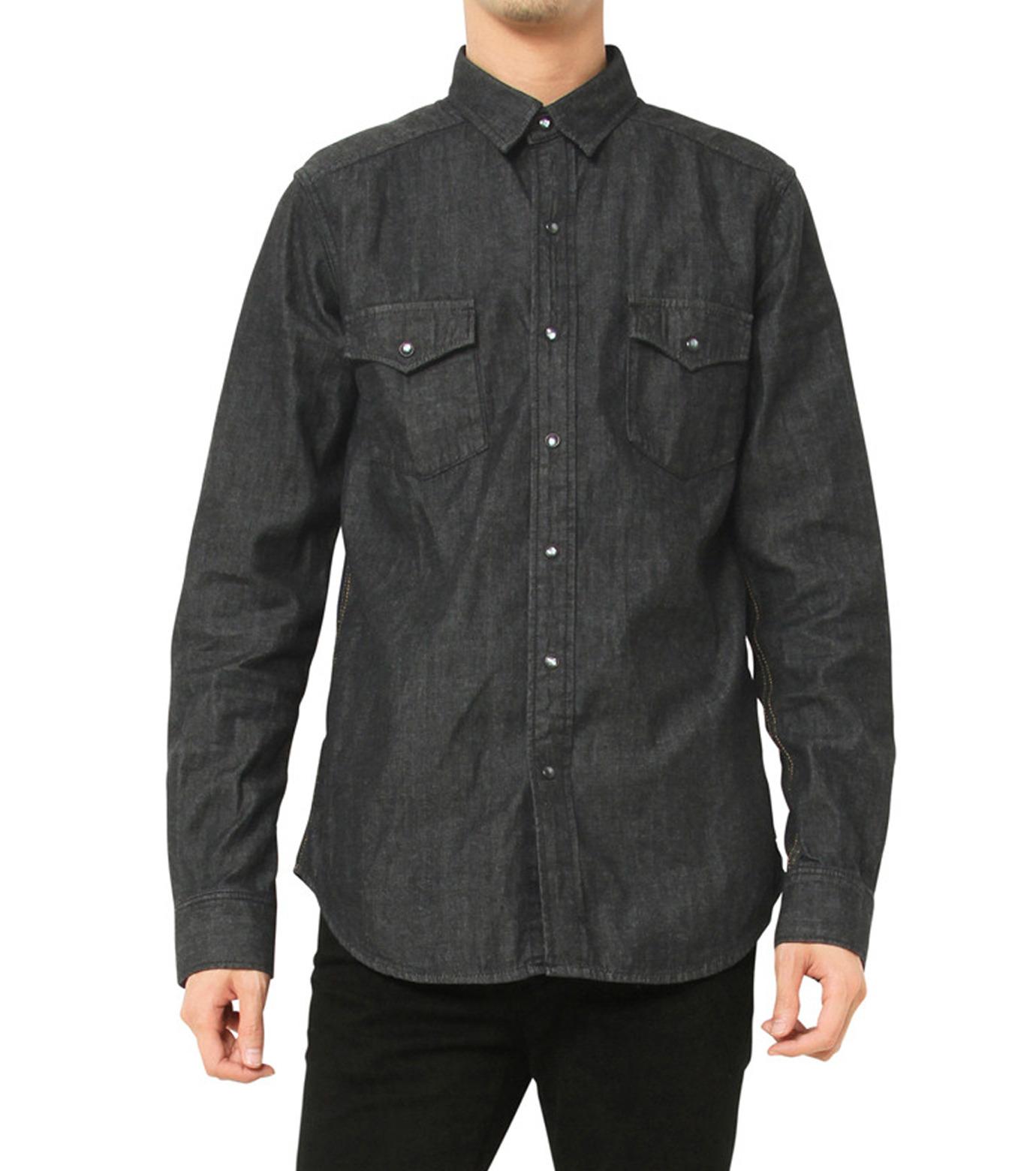 HL HEDDIE LOVU(エイチエル・エディールーヴ)のHL DENIM SHIRT-BLACK(シャツ/shirt)-17A93003-13 拡大詳細画像5