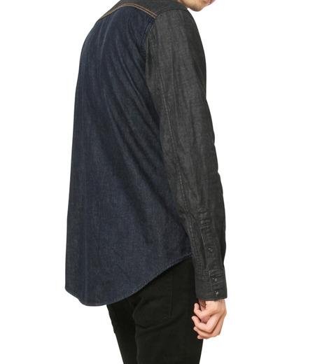 HL HEDDIE LOVU(エイチエル・エディールーヴ)のHL DENIM SHIRT-BLACK(シャツ/shirt)-17A93003-13 詳細画像6